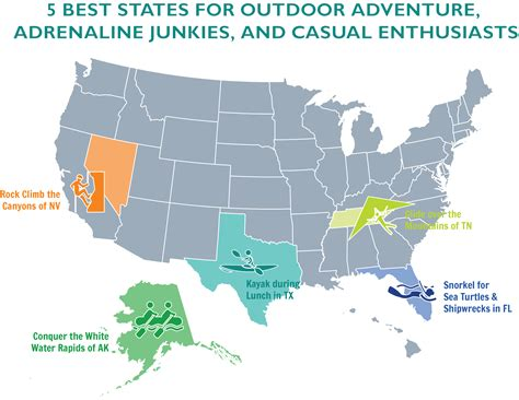 Top 7 Us Cities For Single by The 5 Best States For Outdoor Adventure Adrenaline
