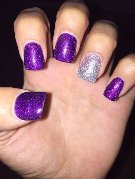 purple pattern nails purple and silver nails www imgkid com the image kid