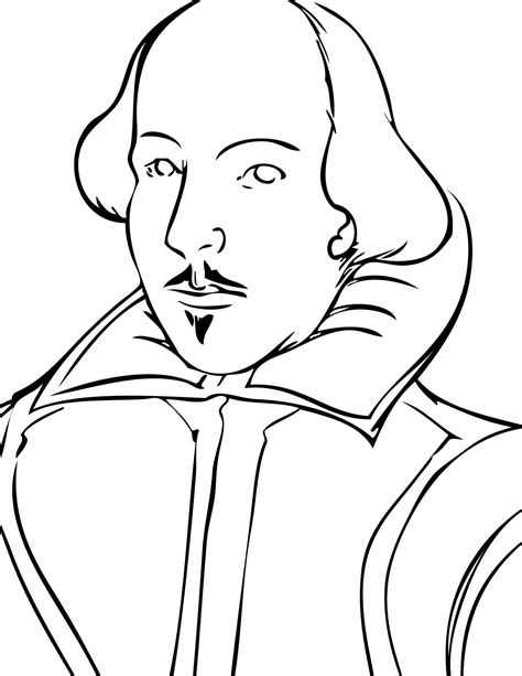 good coloring page  shakespeares face