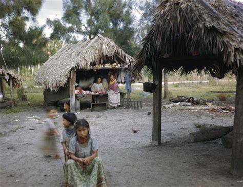 Chickee Hut Florida Memory Seminole Children Outside Chickee