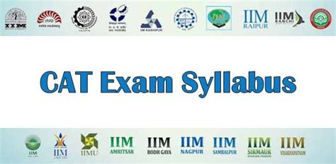 Cat Subjects Mba by Cat 2018 Syllabus A Detailed Review College