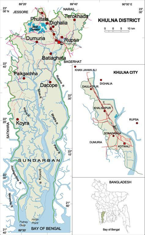 map of khulna city path khulna