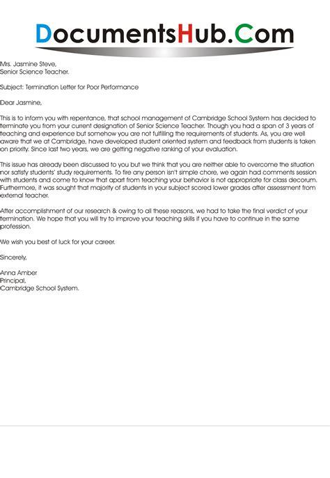 termination letter archives documentshubcom