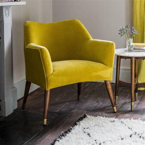 mustard velvet accent chair astoria chair in mustard yellow velvet with brass caps