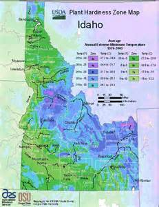 usda map of idaho hardiness planting zones
