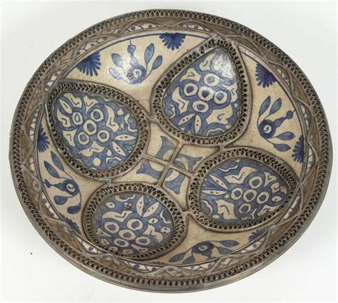 Moroccan Decorative Wall Plates by Set Of Four Ceramic Decorative Plates From Fez Morocco