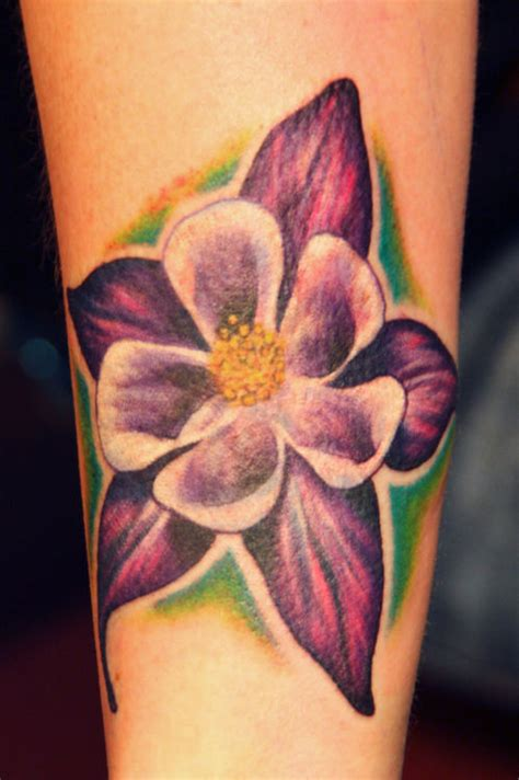 columbine tattoo columbine flower tattoos