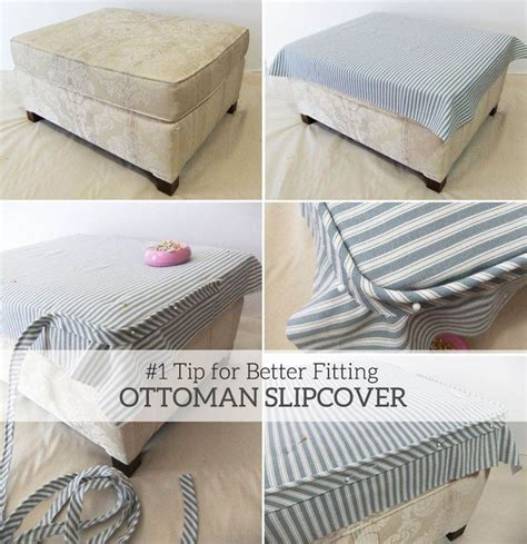 how to sew a slipcover for an ottoman 17 best ideas about ottoman slipcover on pinterest do