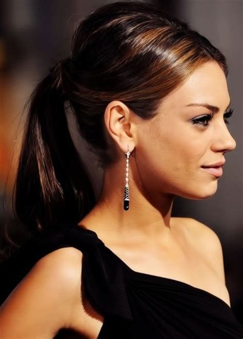 ponytail hairstyles for best ponytail hairstyles for round shape faces