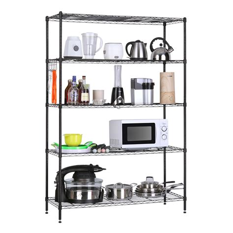 kitchen storage unit shelving unit 5 level heavy duty garage kitchen wire