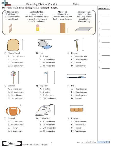 Estimating Capacity Worksheets 4th Grade