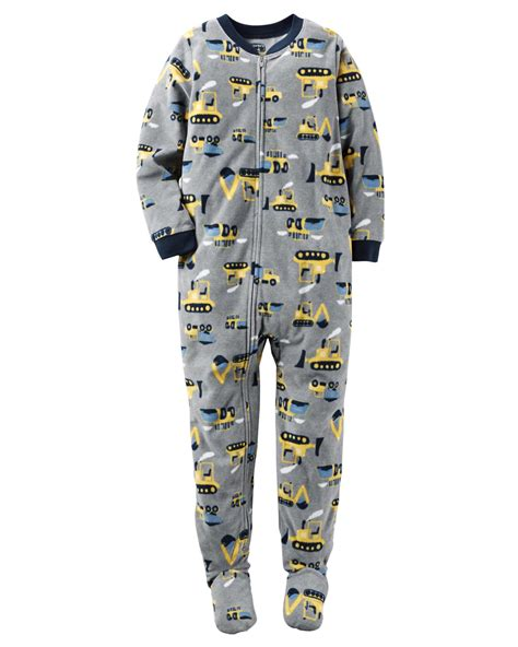 Sleeper Pajamas by Carter S 174 Infant Toddler Boys Fleece Sleeper Pajamas
