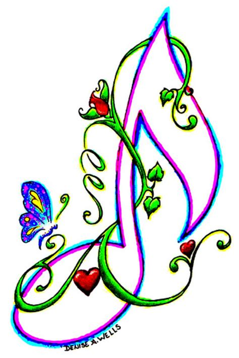 butterfly music note tattoo designs quot note quot design by a flickr