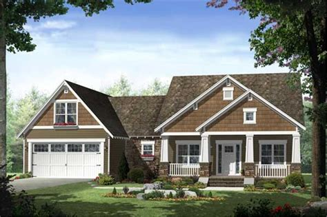 craftsman house plan 3 bedrms 2 baths 1619 sq ft
