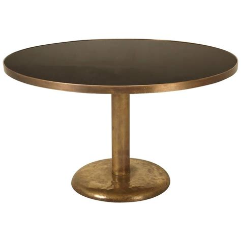 Dining Tables Black Glass Brass And Black Glass Dining Table At 1stdibs