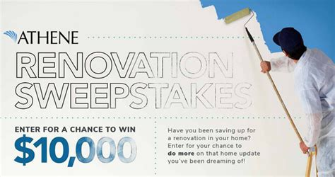 Home Renovation Sweepstakes - hgtv sweepstakes win 10 000 to do more from athene usa