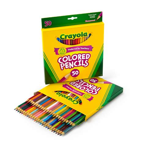 crayola 50 count colored pencils view larger