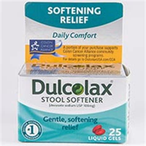 Side Effects Of Stool Softeners Term by Dulcolax Stool Softener Docusate Sodium Dosage