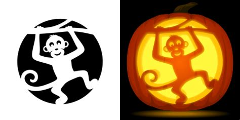 monkey pumpkin stencil