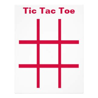 Tic Tac Toe Template by Tic Tac Toe Template Playbestonlinegames