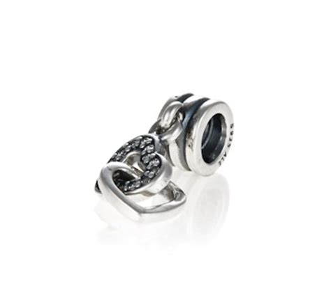 Interlocked Hearts Dangle Charm P 305 pandora silver interlocking pendant charm 791242cz greed jewellery