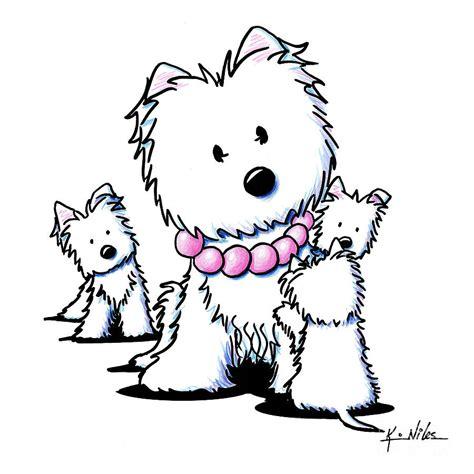 Muggles Mom And Siblings Drawing by Kim Niles