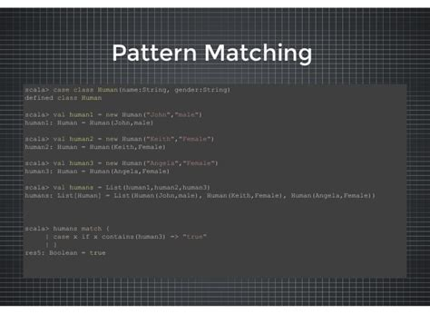 pattern matching scala string scala in a nutshell