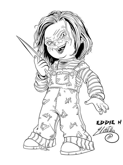 Chucky Coloring Pages Printable Coloring Pages Chucky Doll Coloring Pages