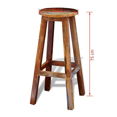 solid cherry counter stools reclaimed solid wood high bar stool vidaxl