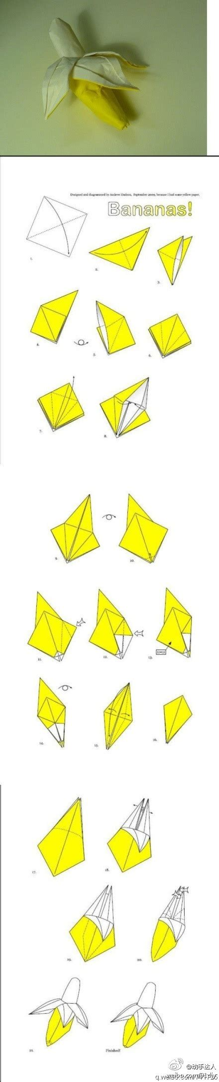 origami banana origami 3d banana origami and crafts