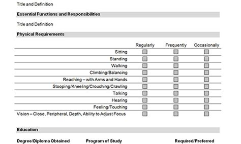 employee roles and responsibilities template description templates toolkit