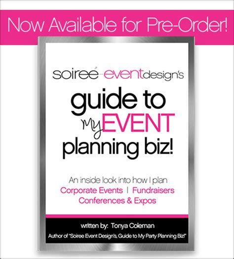 event design guidelines party planning books