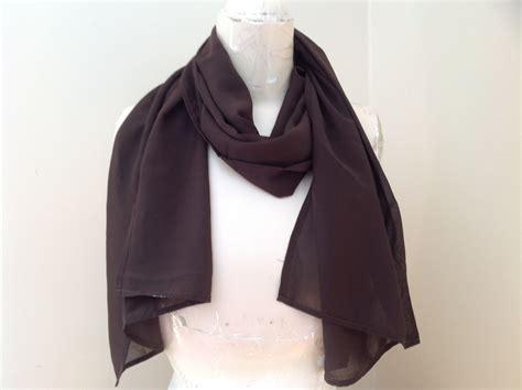 brown fashion scarf chiffon like material by magic