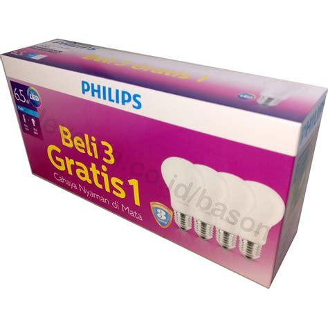 Philips Lu Bohlam Led 6 5w philips led bulb 6 5w multipack beli 3 gratis 1 putih