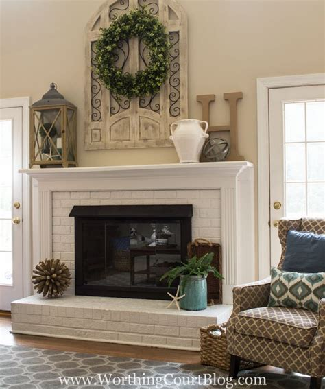fireplace mantel decoration 17 best ideas about brick fireplaces on