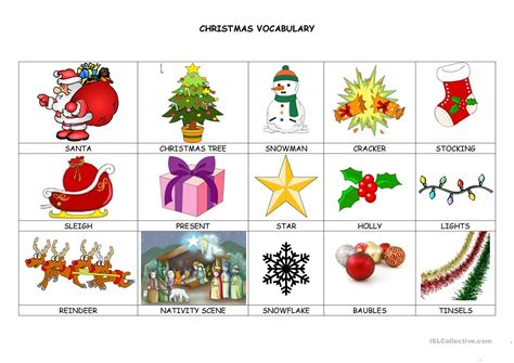 christmas decorations flashcards decorations vocabulary www indiepedia org