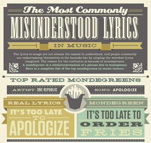 infographic: the most commonly misunderstood lyrics in music