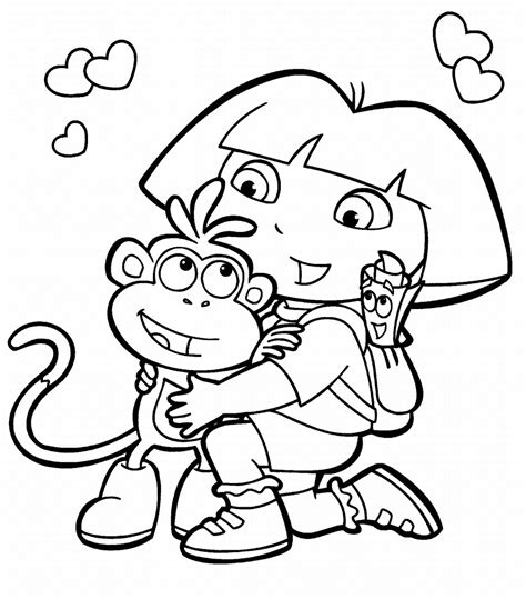 dora coloring pages for kids coloring pics