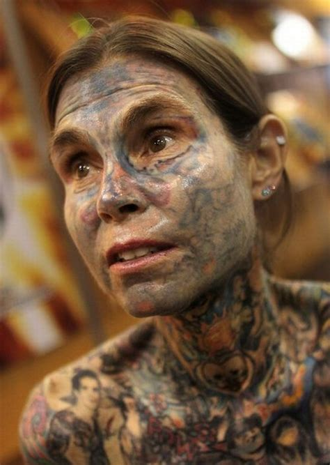 most tattooed woman gnuse the most tattooed in the world 9 pics