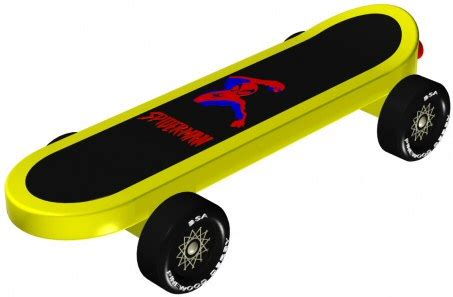 pinewood derby design skateboard