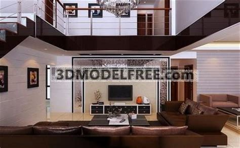 Home Interior Design Photos Free Download by Luxury House 3d Model Download Free 3d Models Download