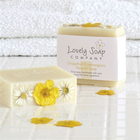 Handmade Soap Companies - grapefruit lemongrass handmade soap by lovely