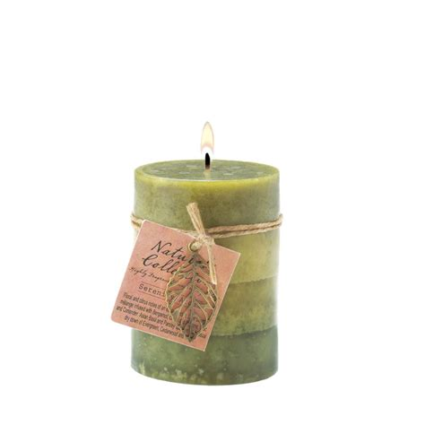 Bulk Candles Wholesale Serenity Leaf Pillar Candle Buy Wholesale Candles