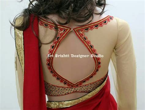 pattern simple blouse saree blouse pattern highlighted with simple embroidery