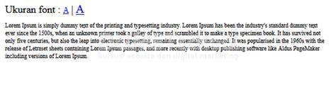 membuat layout web dengan jquery membuat menu merubah ukuran font dengan jquery kursus