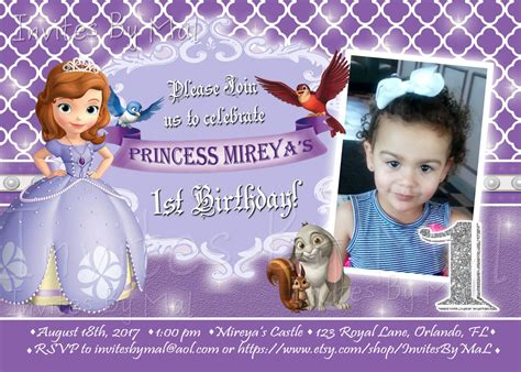 princess sofia birthday invitation templates princess sofia the birthday invitation by