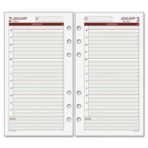 printable day planner refills free 6 best images of free printable day runner pages day