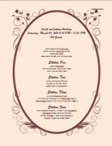 Catering Menu Design Templates by Catering Menu Template Microsoft Word Templates