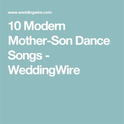25  best ideas about Mother son dance on Pinterest