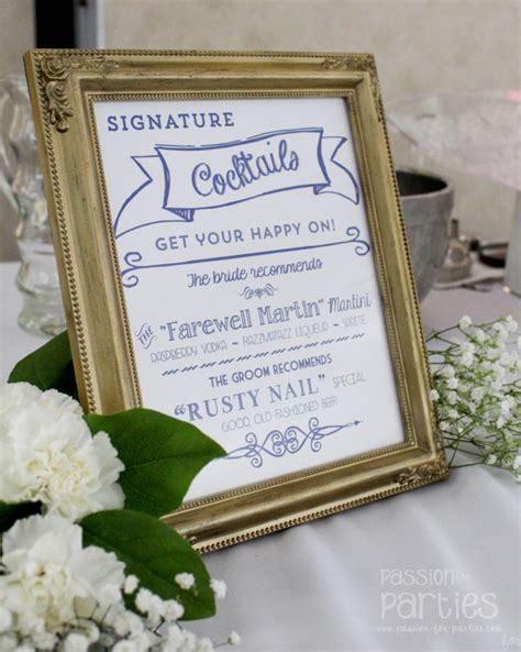 wedding signature cocktail sign